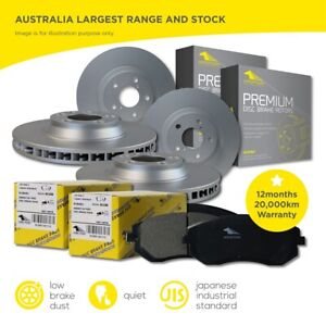 Front and Rear Brake Pads Disc Rotor Full set for Holden Calais VE VF 2006-2017