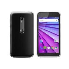 *cp* Custodia in Silicone TPU trasparente per Motorola Moto G 3 Gen -hh5-