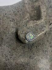 Vintage Etheopian Fire Opal Earrings 925 Sterling Silver Heart Studs