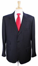 * KITON * Very Recent Charcoal Black Tonestripe Wool-Cashmere 2-Btn Suit 44L