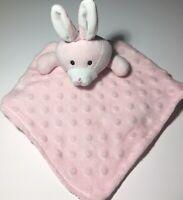 ELEGANT BABY Satin Girl's Pink Minky Dot Plush Rabbit Security Blanket Lovey