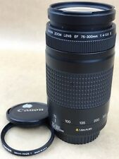 Canon EF 75-300mm f/4.0-5.6 II Lens w/ Caps and Tiffen Filter - Clean