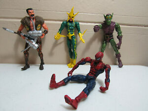 "Marvel Legends SPIDER-MAN vs THE SINISTER SIX 6"" INCOMPLETE Box Set Toy Biz"