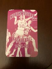 1974-75 Northwestern Wildcats College Basketball Pocket Schedule