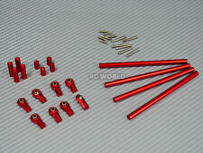 Axial SCX10 Aluminum METAL RODS Trailing Arms Links 105mm-130mm SET  RED