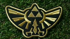 Legend of Zelda Hyrule's Royal Crest Gold Patch Iron Embroidered Applique Sew