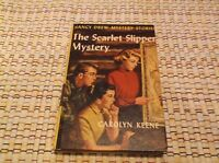 VINTAGE NANCY DREW MYSTERY STORIES THE SCARLET SLIPPER CAROLYN KEENE 25 CHAPTERS
