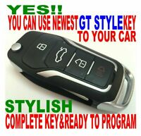 GT FLIP KEY FOB for 10-14 Toyota FJ CRUSIER CHIP-L KEYLESS ENTRY REMOTE FT ALARM