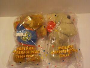 "D Vintage 1989 Avon Wonderful World Of Bears Koala Bear Stuffed Animal ot 9"" NEW"