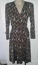VINTAGE MOSCHINO CHEAP AND CHIC GIRAFFE PRINT WRAP DRESS