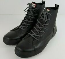 Hunter Boots Dipped Canvas Hightop Sneakers Black Mens 8 Womens 10