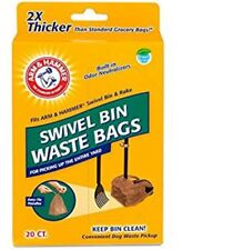 Arm & Hammer Swivel Bin Waste Bags,20 Count,1 Pack