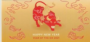 CHRISTMAS IS  2021 Year of the OX  MINISHEET MNH in Stamp pack- Chinese New Year