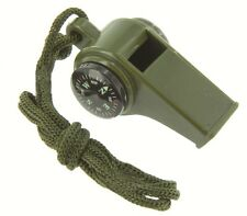 Ranger Whistle - Safety Whistle with Button Compass Thermometer Neck Cord