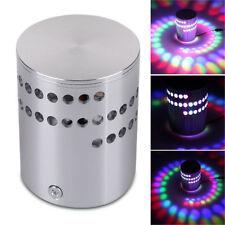 RGB Spiral Hole Wall Lamp Surface Install LED Light Luminaire Lighting AA