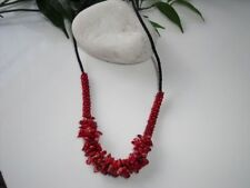 Handmade Cluster Coral Costume Necklaces & Pendants