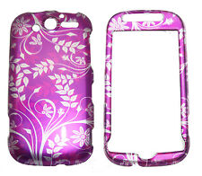Purple White Vines Case Snap on Cover T-Mobile myTouch 4G