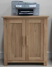 Eton solid oak modern furniture home office printer storage cupboard