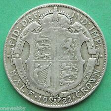1922 George V Silver Half-Crown SNo24926
