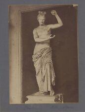 Sculpture gréco-romaine Aphrodite Bacchus Grèce Italie 2 Photos Vintage ca 1880