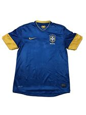 Brazil National Team 2012 2013 Soccer Shirt Jersey Away Nike Authentic Sz M