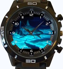 Shark under blue sea New Gt Series Sports Unisex Watch
