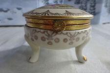 Antique Porcelain German 3 Footed Trinket Box