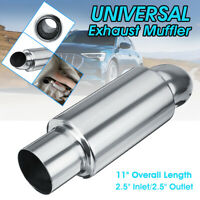 2.5'' Inlet 2.5'' Outlet Muffler Exhaust Pipe Tip Sound Tuning Silencer Pipe AU