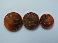 Pièces monnaie GRECE GREECE 1, 2 et 5 CENTS euro 2002 NEUF UNC NEW