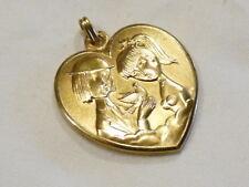 Bijou plaqué or 18 carats Big pendentif coeur amoureux de Peynet par Contaux