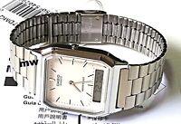 Casio Digital Analog Stainless Steel Men's Watch AQ230 AQ230A AQ-230A-7D New