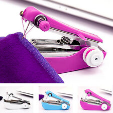 1X Random Portable Mini Sewing Machine Handheld Stitch Cordless Home Sewing Tool