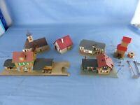 Lot de 6 maquettes dont KIBRI VOLLMER maisons église gare N train électrique