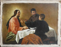 "Old master-DIEGO VELZQUEZ  the supper at emmaus oil painting on canvas 30""x40"""