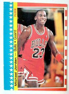 1987-88 Fleer Sticker  # 2 Michael Jordan NM  (miscut)