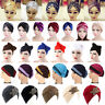 Women Bow Pleated Turban Hat Chemo Cancer Hair Loss Cap Head Wrap Scarf Lot