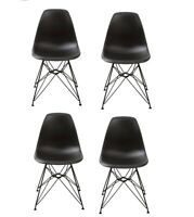 Ergonomic Dining Chairs with Metal Legs Set of 4 Modern Mid-century Living Room