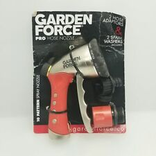 Garden Hose Nozzle Hand Sprayer Heavy Duty 10 Pattern Metal Watering