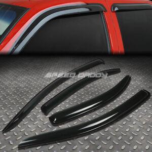 FOR 07-10 CHEVY AVEO T250 SMOKE TINT WINDOW VISOR SHADE/SUN WIND/RAIN DEFLECTOR