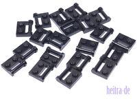 LEGO - 20 x Platte 1x2 mit geschlossenem Halter / Griff schwarz / 48336 NEUWARE