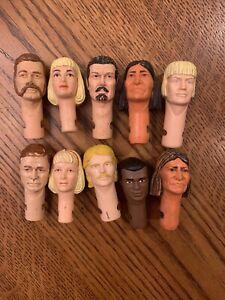 Marx Lot 9–Ten Heads Johnny West Custer Jane West Geronimo Jed Gibson Erik