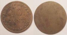 10 Centimes Louis XVIII, fabrique du Vast - Saint Vaast la Hougue (50), Rare !!
