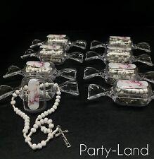 36 Baptism Candy Rosary White Bautizó Recuerdos Souvenir Remembrance Party Favor