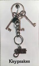 Bride Love Charm Key Ring Boho Sister Keypsake Jewellery Xmas Gift Present