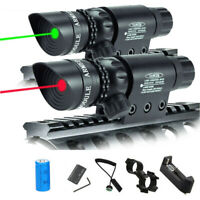 Tactical Red Green Dot Laser Beam Sight Scope Mount Rifle Pistol Air Gun Hunting