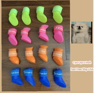 Mini Dog Cat Pet Boot Shoe Protect Rain Water Dust Antislip Waterproof Ship Fast