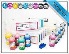 Refillable Starter Kit for Epson 7900 9900 T5961-T5969 cartridges PIGMENT INKS