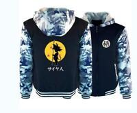 Anime Dragon Ball Z Son Goku Hoodie Fleece Thick Coat Winter Jacket Sweatshirt