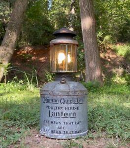 Antique quicklite Pressure Poultry House Coleman Lantern