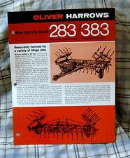 Vintage Oliver Corporation Model 283/383 Harrows Advertising Brochure-Ca 1970!